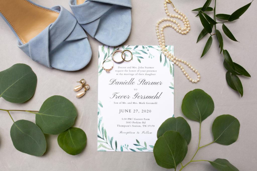 Wedding details and invitation