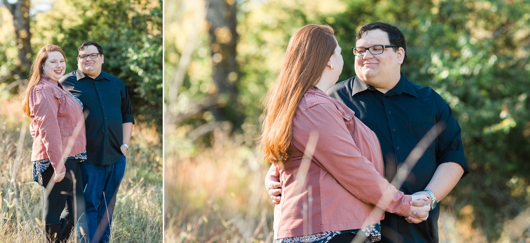 golden hour fall engagement