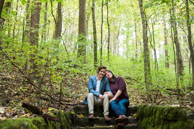 Fall foliage engagement hike
