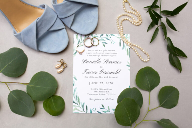 Wedding details and invitation