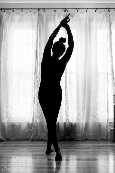 Standing crescent pose in Nashville yoga photographer branding session in Nashville TN with Whitney Korman